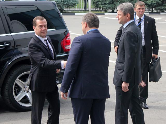 Дмитрий Медведев прибыл на 1 всероссийский форум продовольственной безопасности. Ростов-на-Дону.